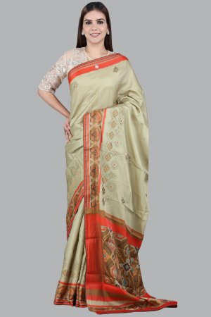 Khaki Silk Saree Collection