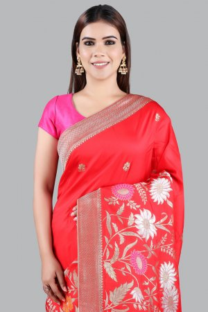Red Silk Saree For Women