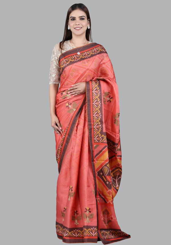 Tomato Red Silk Saree Online