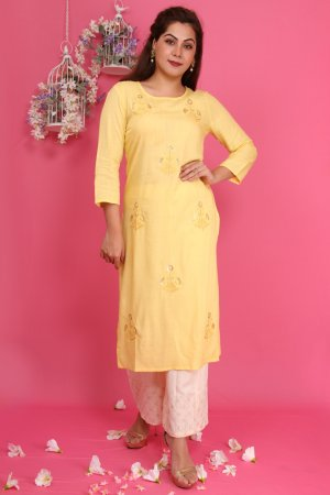 Lemon Yellow Kurta Set