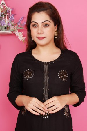 Black Embellished Kurtis