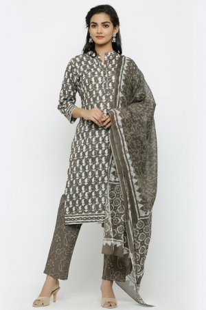 Earthy Moss Kurta Set