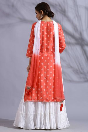 Salamander Orange Gharara Set