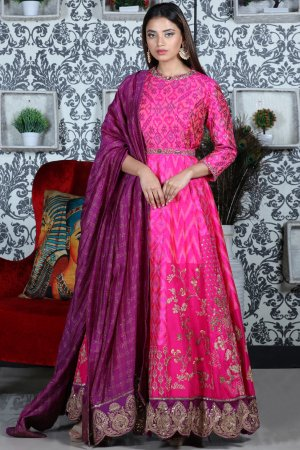 Royal Pink Anarkali Set