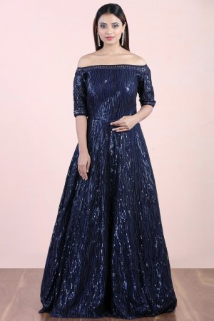 Cobalt Blue Sequin Gown