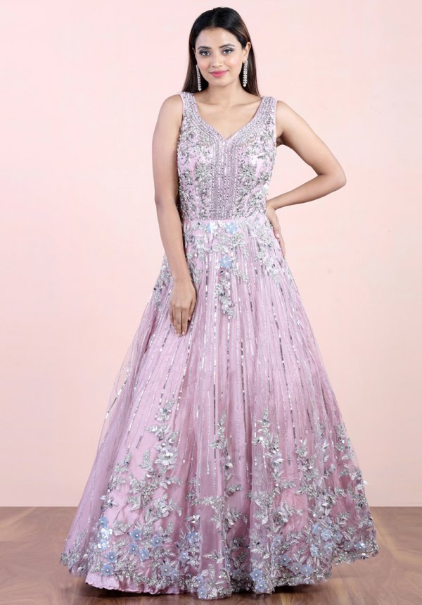 Cloudy Purple Ball Gown