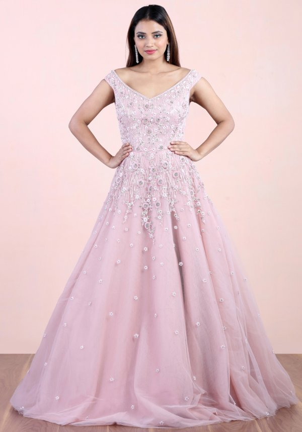 Vintage Pink Ball Gown