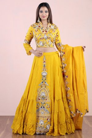 Royal Yellow Lehenga Set
