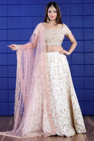 Jewel White Embellished Lehenga Set