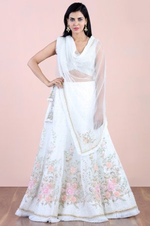 Twilight White Embellished Lehenga Set