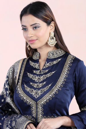 Midnight Blue Anarkali Set