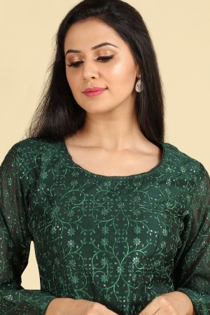 Majestic Green Embroidered Salwar Suit